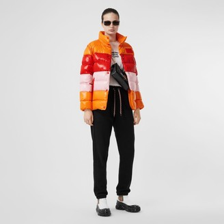 Burberry Panelled Nylon Puffer Jacket with Detachable Sleeves