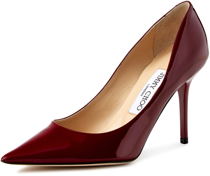 Jimmy Choo Agnes Patent Leather Pointed Toe Pump