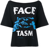 Facetasm logo print T-shirt - women - Cotton - 2