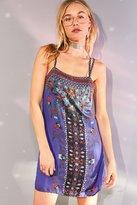 Ecote Strappy Printed Mini Slip Dress