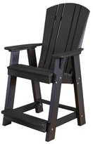 Adirondack Patricia Plastic Chair Set with Table Rosecliff Heights Color: Black