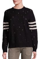 Current/Elliott The Crew Neck Destroy Varsity Sweater