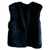 Karl Lagerfeld Paris Purple Faux fur Coat for Women