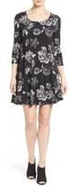 Karen Kane Women's 'Maggie' Floral Print Trapeze Dress