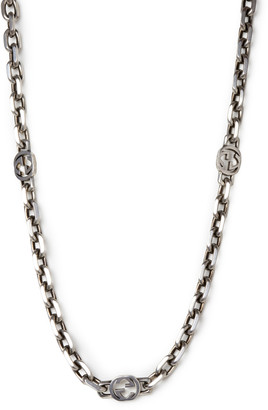 Gucci Long Interlocking GG Chain Necklace