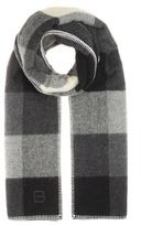 Balenciaga Checked wool and alpaca-blend scarf