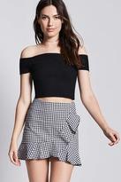 Forever 21 FOREVER 21+ Gingham Ruffle Mini Skirt