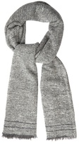 Brunello Cucinelli Fringed Cashmere And Wool-blend Scarf