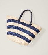 LOFT Beach Striped Straw Bag