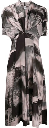 Paul Smith Abstract-Print Flared Dress