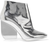 Maison Margiela Metallic Glossed-Leather Ankle Boots