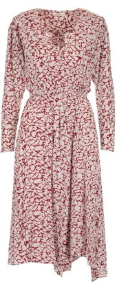 Etoile Isabel Marant Serali Printed V-Neck Dress
