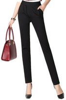 4Chiclife Women's Stretchy Slim Fit Skinny Boot Cut Jegging Pants 30