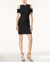 GUESS Carson Ribbed Cold-Shoulder Dress