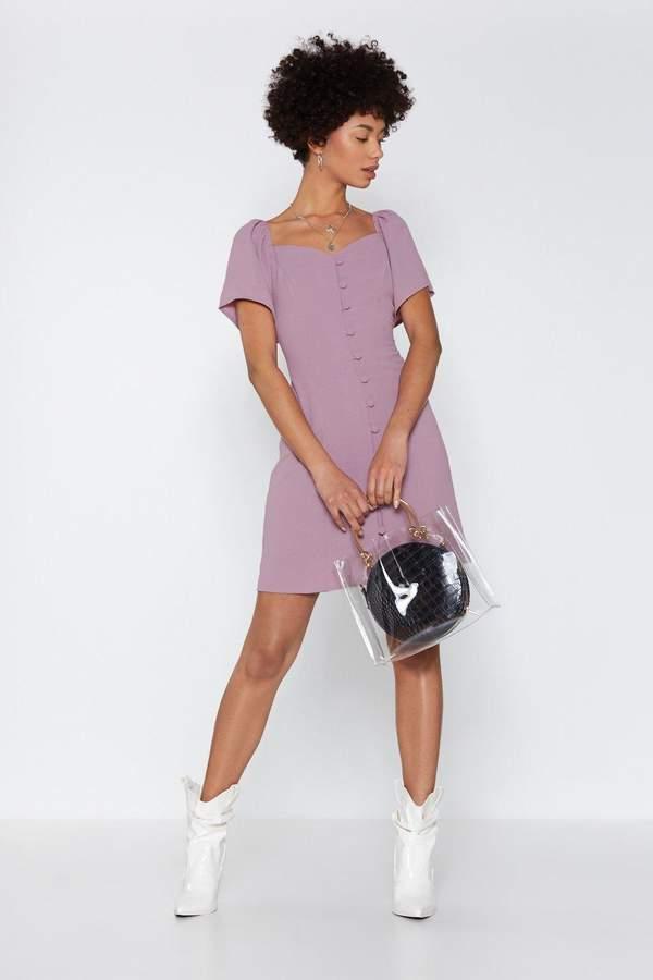 Nasty Gal Womens I Was Lost Button-Down Dress - Purple - 10, Purple