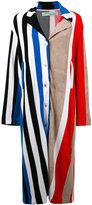 Off-White striped coat - women - Cotton - M