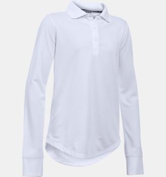 Under Armour Girls' UA Uniform Long Sleeve Polo