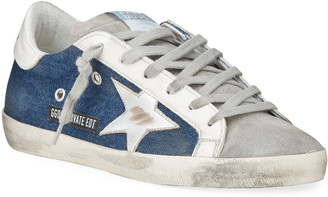 Golden Goose Superstar Denim Low-Top Sneakers