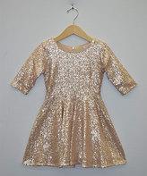 My Michelle Gold Sequin A-Line Dress
