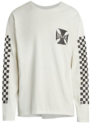 Rhude Classic Checkers Long-Sleeve T-Shirt