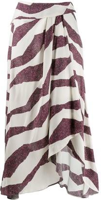 Isabel Marant Printed Wrap Skirt