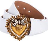 Dolce & Gabbana White Devotion Belt