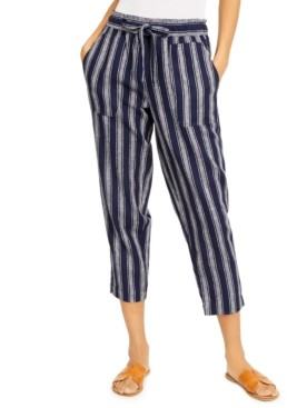 Indigo Rein Juniors' Striped Cropped Soft Pants