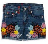 True Religion Toddler's, LIttle Girl's & Girl's High-Waist Embroidered Shorts