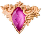 Stephen Webster Pink Sapphire & Diamond Baroque Superstud Ring