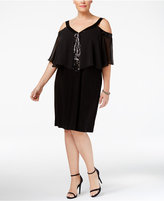 MSK Plus Size Chiffon Cold-Shoulder Dress
