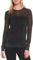 MICHAEL Michael Kors Women's Sheer Metallic Overlay Sweater