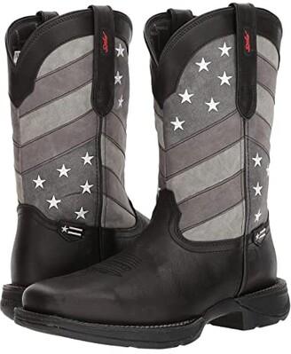Durango Rebel 12 Flag (Black/Charcoal/Grey) Cowboy Boots