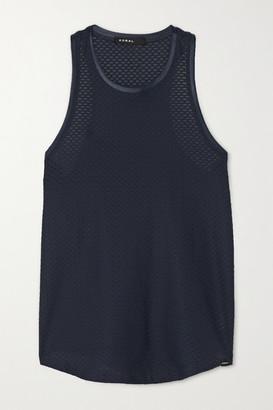 Koral Aerate Stretch-mesh Tank - Midnight blue