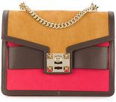 Salar block colour chain strap bag