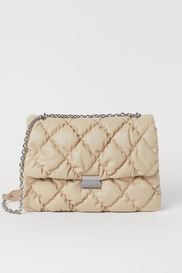 H&M - Quilted Shoulder Bag - Beige