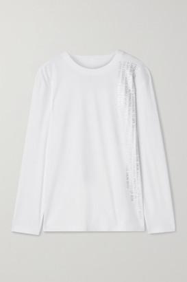 Norma Kamali Printed Jersey Top - White