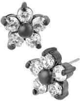Betsey Johnson Crystal Flower Stud Earring