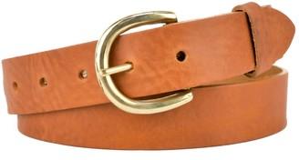 "Village Leathers Classic 1 1/4"" Tan Leather Belt"