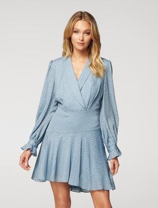Forever New Harriet Long-Sleeve Mini Dress - Blue - 10