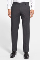 HUGO BOSS Genesis Flat Front Check Stretch Wool Trouser