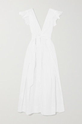 Kalita Poet By The Sea Ruffled Cotton-poplin Maxi Dress - White