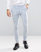 Asos WEDDING Super Skinny Suit Pants in Soft Blue