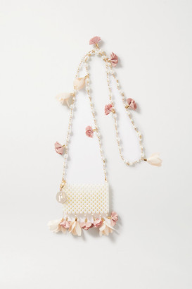 Rosantica Calendula Embellished Gold-tone And Faux Pearl Shoulder Bag - White