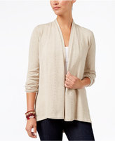 Style&Co. Style & Co Long-Sleeve Pleat-Detail Cardigan, Created for Macy's