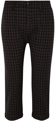 The Great The Saddle Cropped Checked Twill Straight-leg Pants