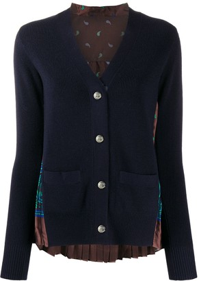 Sacai Long-Sleeve Knitted Cardigan