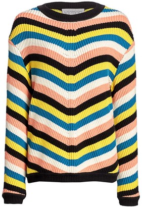 Victor Glemaud Striped Chunky-Knit Sweater