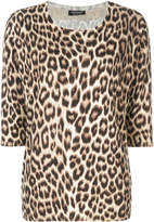 Twin-Set leopard pattern knitted blouse