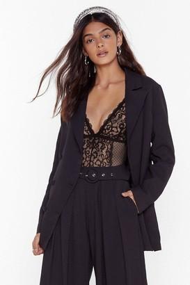Nasty Gal Womens We're in Business Oversized Blazer - Black - 4