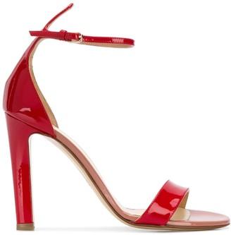 Francesco Russo patent colour block sandals